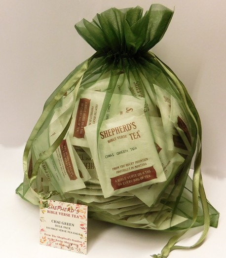 Chai Green Bible Verse Tea - Bulk Bags (100 tea bags)