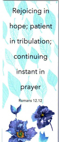 BOOKMARK - Romans 12:12 (C)